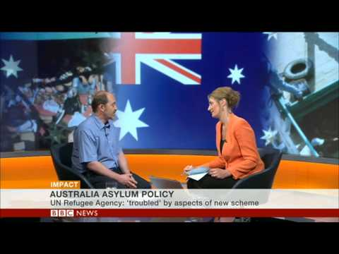 "UNHCR on BBC World News: Australia's asylum policy is""troubling"""