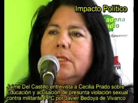 JAIME DEL CASTILLO ENTREVISTA A CECILIA PRADO SOBRE EDUCACION Y ACUSACION CONTRA JAVIER BEDOYA PPC