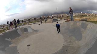 Traxxas Stampede RC Big Air Stunts at Skateboard Park Green Valley Ranch
