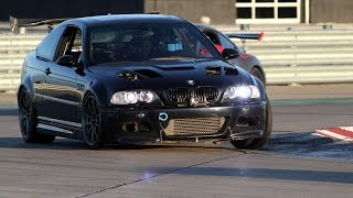 BMW E46 M3 NA vs Supercharged Honda Civic Si on the Race Track