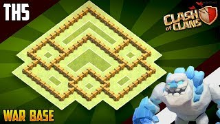 NEW INSANE TH5 WAR/TROPHY Base 2018!! COC Town Hall 5 (TH5) War Base Design - Clash of Clans