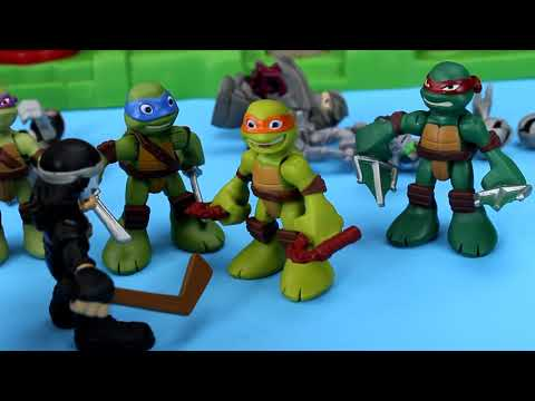 Teenage Mutant Ninja turtles Save Casey Jones from Shredder and Krang TMNT NICKELODEON Just4fun290