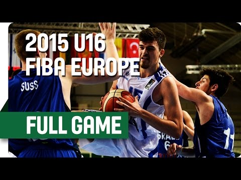 Greece v Israel - Group B - Full Game - 2015 U16 European Championship Men