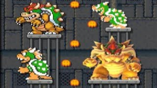 Four Bowser Fights & A Funeral by hairy dude - SUPER MARIO MAKER - NO COMMENTARY