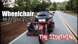 Awesome Wheelchair and Custom Built SideCar Paraplegic Harley Rider