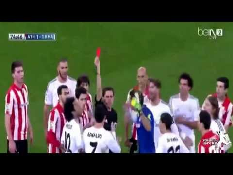 Cristiano ronaldo red card vs atletico bilbao 2014 (HD)