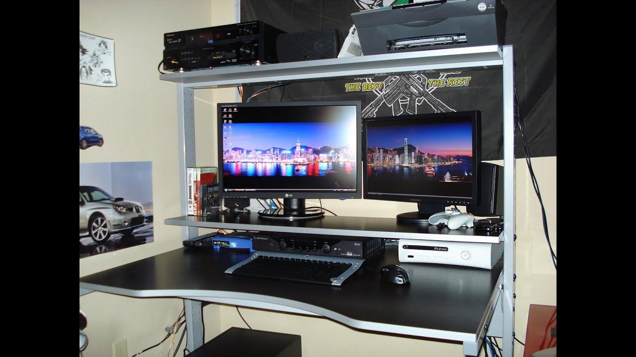 best gaming computer desk 2014 atlantic 33935701 gaming desk youtube. Black Bedroom Furniture Sets. Home Design Ideas