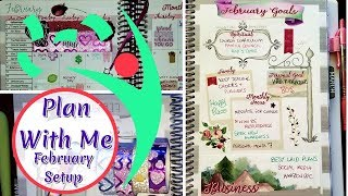 Monthly Setup Plan With Me Leafy Treetops Planner February 2019 Pretty Functional