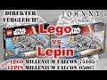 Lego ®   vs. Lepin - ein direkter Vergleich anhand des Millenium Falcon 75105 - 05007