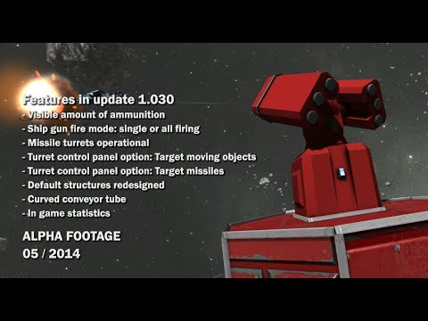 Space Engineers - Missile Turrets, Redesigned default structures, Ship gun fire mode