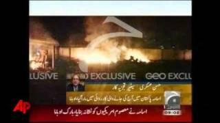 Televisión Pakistaní muestra el incendio en la mansión donde vivía Osama bin Laden