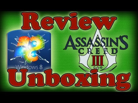 Assassins Creed 3. Windows 8 Pro. Unboxing. Review