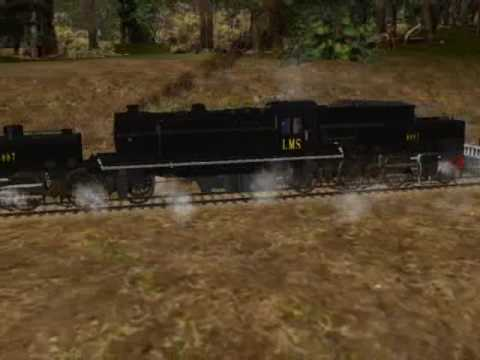 Paulz Trainz UK LMS Garratt 2 6 0 0 6 2 Flying Cam.