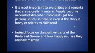 Father Wedding Speech Etiquette