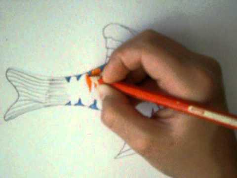 كيفية رسم سمكة معا أخوكم xFARESx999x