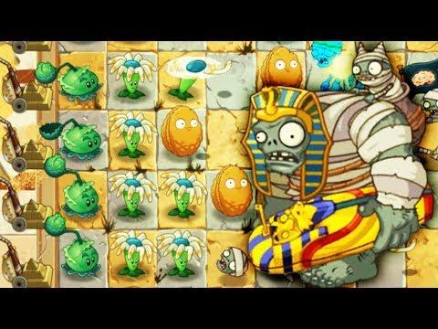 ПЕРВАЯ БИТВА с ЗОМБИ БОССОМ Мультяшная игра для детей РАСТЕНИЯ против ЗОМБИ Plants vs. Zombies 2
