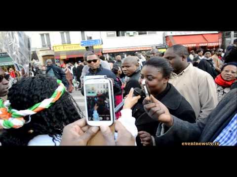 EXCLUSIF MARCHE DE SOUTIEN A SIMONE GBAGBO PARIS LE 08 03 2014