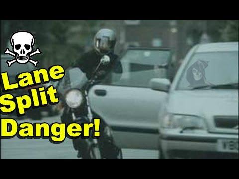 Motorcycle Lane Splitting Danger - Statistics Agree [GoPro Hero 4 Black Vlog]