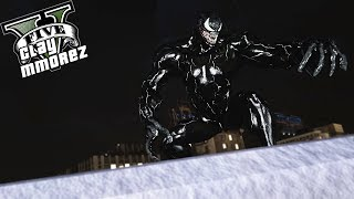 The Venom Strikes Avengers! Eating Captain America! (GTA 5 Venom Mod)