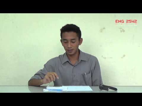 MUET Speaking Practice: Individual Presentation #Topic 2: Candidate C