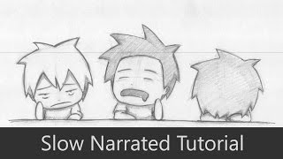 How to Draw 3 Bored Students at School [Chibi] [Slow Narrated Tutorial] [Requested]