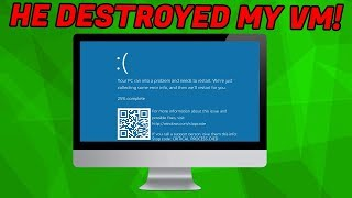 Crazy Windows refund scammer DESTROYS my VM!