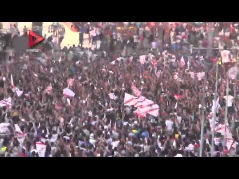 الآلاف يحتشدون داخل حلمي زامورا احتفالا بالفوز بالدوري