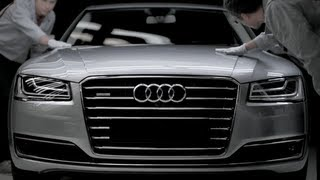 2014 Audi A8 Werbung neu / All new Audi A8 2014 showroom trailer