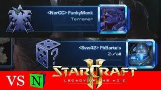 VS FunkyMonk / VS FbBartels - Starcraft 2: Viewer VS Nergorix [Deutsch | German]