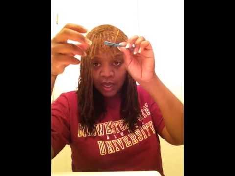 Interlock tool for dreadlocks and Sisterlocks - YouTube