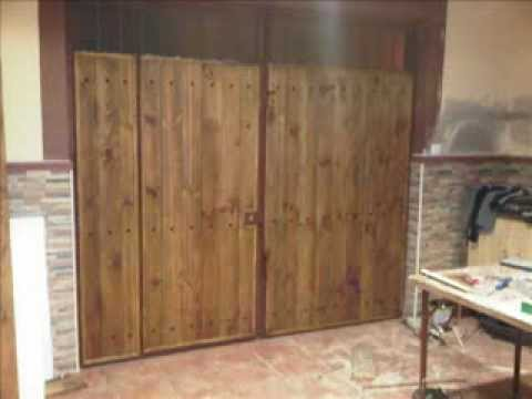 Forrar puertas de chapa con madera youtube - Como forrar una pared de madera ...