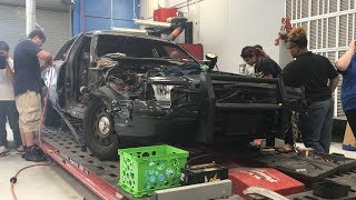 Cleveland students repair totaled police car from Cavaliers championship celebration