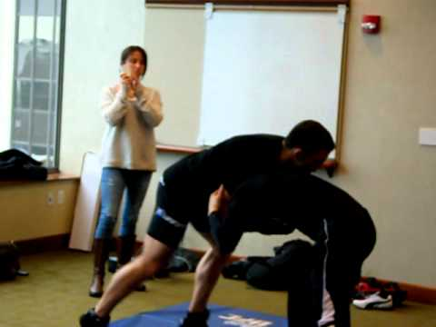 UFC: Jake Ellenberger Practices Grappling at Media Workout (Feb. 13, 2012) Image 1
