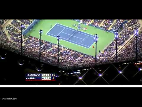 [HD] Amazing view of the Arthur Ashe Stadium Final US Open 13