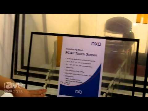 ISE 2015: NXO Presents Invisible Ag Mesh PCAP Touch Screen