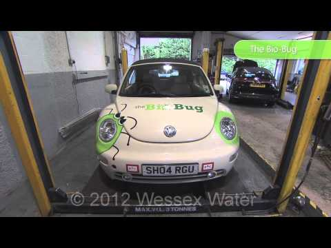 The BioBug is a poo powered car from the recycling and renewable energy company GENeco.
