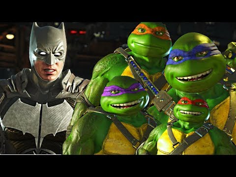 Injustice 2 - Ninja Turtles vs Batman All Intro Dialogue