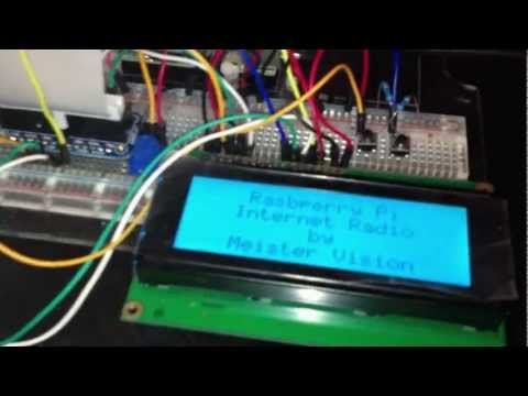 Raspberry Pi Internet Radio Tutorial (MPD + 20x4 LCD)