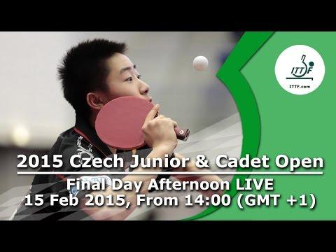 2015 Czech Junior & Cadet Open - FINALS  LIVE