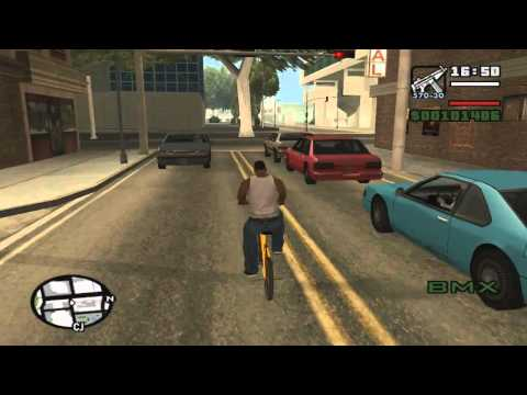 GTA San Andreas get muscle, fatness, stamina, weapons and cycling skill