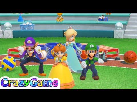 Super Mario Party - All Co-op Minigames (Daisy, Waluigi, Rosalina, Luigi) | CRAZYGAMINGHUB