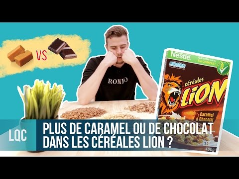 LQC  More caramel or chocolate cereal in Lion cereals