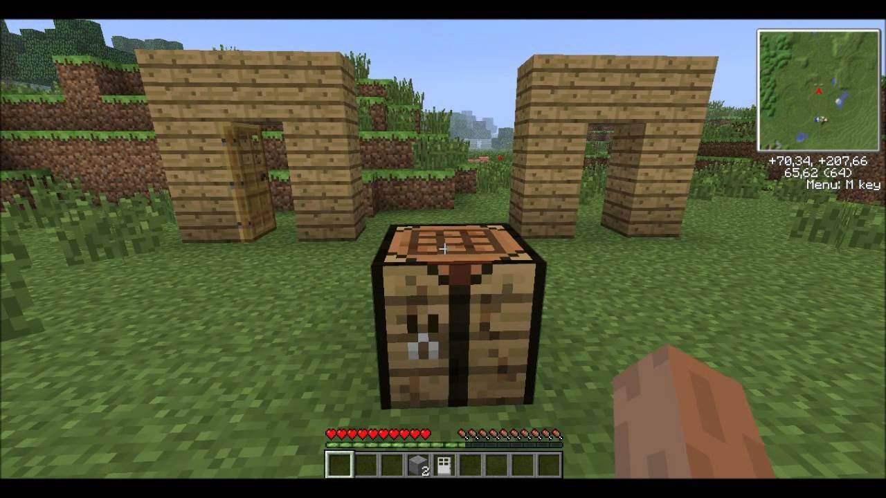 Como hacer puertas de madera y hierro minecraft pc youtube for Como hacer una puerta de madera