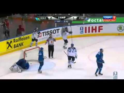 Казахстан 3:4 Финляндия Чемпионат мира по хоккею 2014
