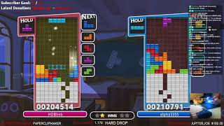 Puyo Tetris - Earned top 10 on leaderboard by defeating rank 4