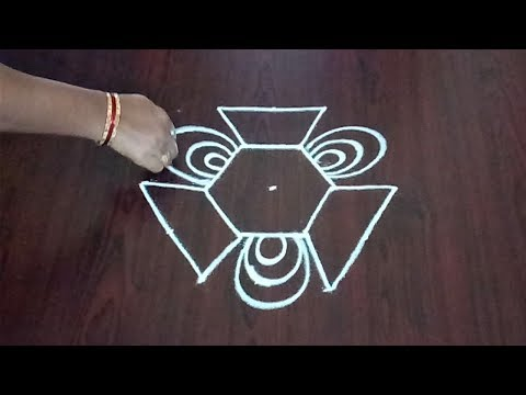 Simple Dots Rangoli 5 x 3 || Easy Dotted Kolam || Quick Muggulu || Fashion World & Rangoli