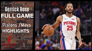 Derrick Rose IMPRESSIVE Game Against Mavs  Full Highlighs 2019 NBA Preseason 18 pts 5 asts
