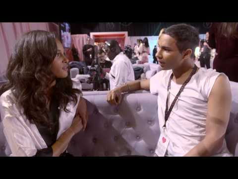 Victoria's Secret: Olivier Rousteing meets Cindy Bruna