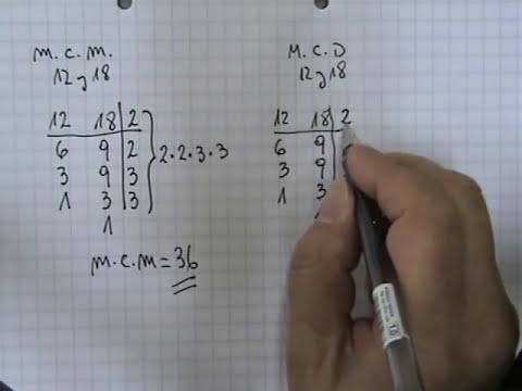 Mínimo común múltiplo y Máximo común divisor 01