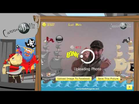 Zugara s Augmented Reality Motion Capture Game  Cannonballz!